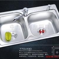 供应厨房水槽S-7743不锈钢水槽洗菜盆